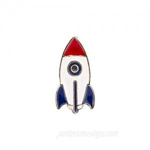 A N KINGPiiN Retro Space Rocket Ship Lapel Pin Badge Gift Party Shirt Collar Costume Pin Accessories for Men Brooch