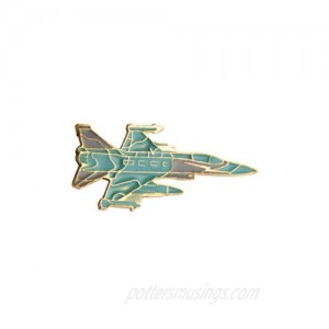 A N KINGPiiN Turquoise Fighter Jet Aircraft Lapel Pin Badge Gift Party Shirt Collar Costume Pin Accessories for Men Brooch