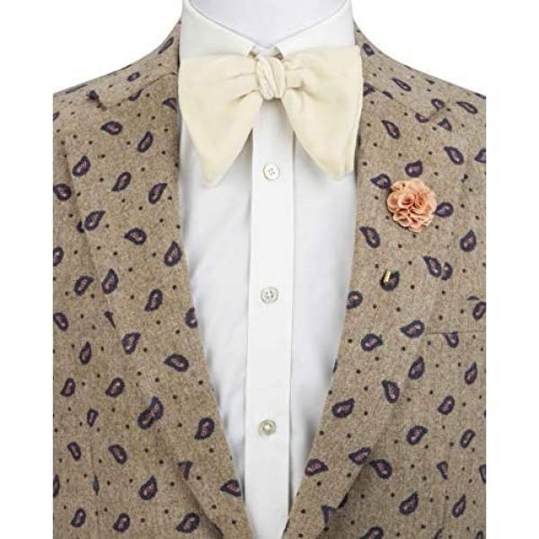 an KINGPiiN Lapel Pin for Men Handmade Bunch Flower Brooch Suit Stud Shirt Studs Men's Accessories (Beige)