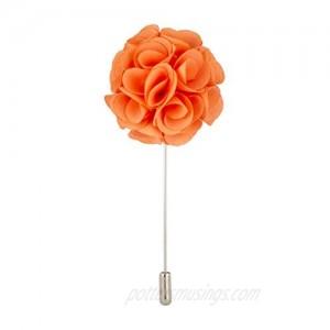 AN KINGPiiN Lapel Pin for Men Suit Handmade Bunch Flower Brooch Suit Stud  Shirt Studs Men's Accessories (Peach)