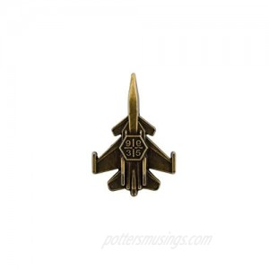 Knighthood Fighter Jet Aircraft Airplane Bronze Lapel Pin Badge Coat Suit Wedding Gift Party Shirt Collar Accessories Brooch for Men