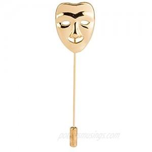 Knighthood Golden Face Lapel Pin Brooch Golden