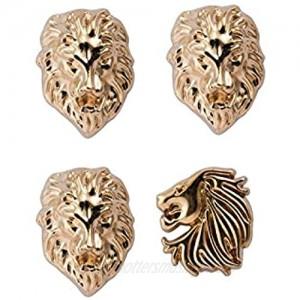 Knighthood Men's Set of Lion and Jaguar Lapel Pin Gold