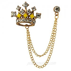 Knighthood Rose Gold Crown with Swarovski Detailing Lapel Pin Brooch