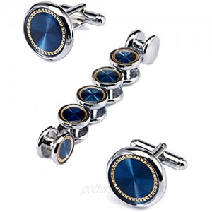 Ujoy Men's Jewelry Cufflinks and Studs for Tuxedo Shirts for Weddings Business Dinner