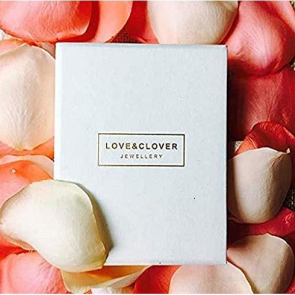 LOVE&CLOVER Earrings for women dangling Crystal Drop Dangle Earrings Elliptical Ring Teardrop Women Girls Wedding Gift Rose Gold