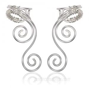 Elf Ear Cuffs Earrings OwMell Ear Cuff No Piercing Ear Cuff Non Pierced Hypoallergenic Earrings Handmade
