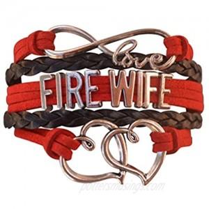Firefighters Wife Gift Fire Wife Bracelet Proud Firefighters Wife Charm Bracelet - Makes Perfect Wife Gifts