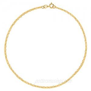 Ritastephens 10k Yellow Gold Mariner Bracelet Link Chain 7 Inches