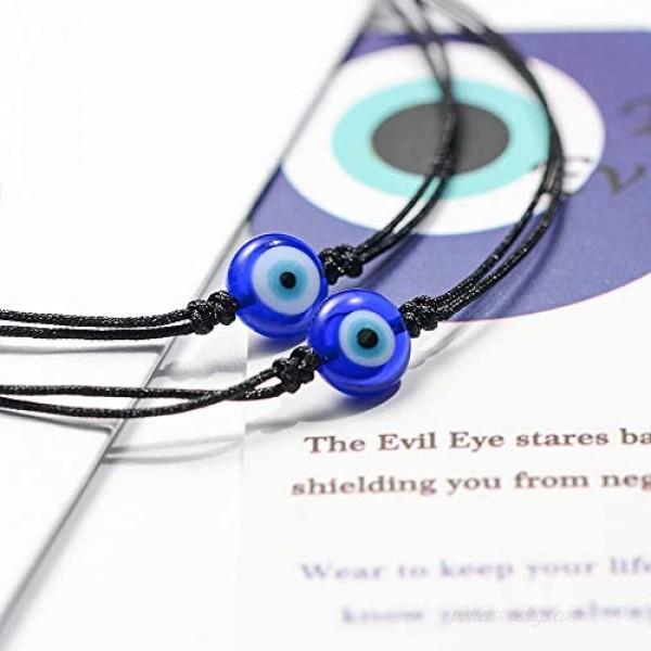 UNGENT THEM Evil Eye Bracelet Anklet Nazar Kabbalah Red Protection BFF Friendship Ojo Turco Good Luck String Bracelets for Women Men Family