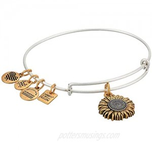 Alex and Ani Women's Charity by Design Sunflower II Two-Tone Bangle Bracelet
