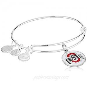 Alex and Ani Women's Color Infusion Ohio State University Logo II EWB Bracelet Shiny Silver Expandable