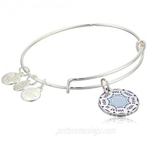 Alex and Ani Words are Powerful What is for You Will Not Pass You Bangle Bracelet