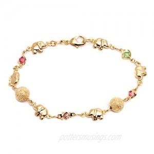 Barzel 18K Gold Plated Elephant Bracelets Elephant Gifts For Women Elephant Jewelry