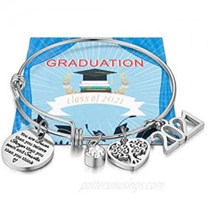 Class of 2021 Graduation Bracelet Inspirational Graduation Gifts for Her  College Senior Bracelet  Graduation Jewelry