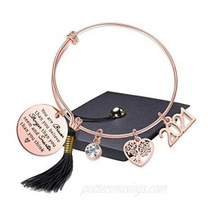 Class of 2021 Graduation Gifts You are Braver Than You Believe Inspirational Charm Bracelet High School College Graduation Gifts for Her Nurse Graduation Gift