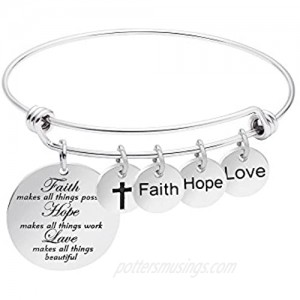 Expandable Bracelet for Women Inspirational Birthday Jewelry Gifts Stainless Steel Charm Bangle Jewelery