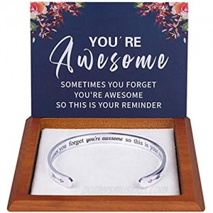 Hidden Message Bracelet - Meaningful Gifts for Women Best Friend Unique Birthday Gifts Come with Gift Box