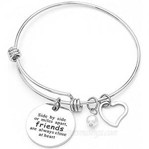 Jude Jewelers Stainless Steel Adjustable Friendship Heart Bracelet  Good Friends are Always Close in Heart