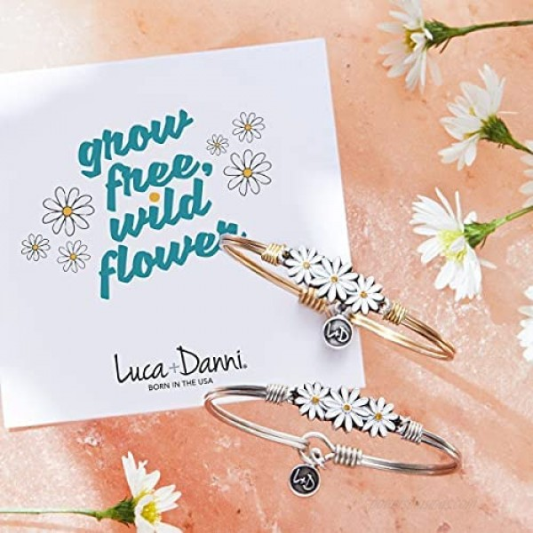 Luca + Danni | Daisies Bangle Bracelet For Women Made in USA