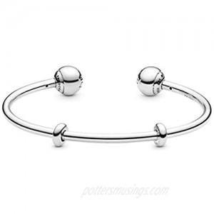 Pandora Jewelry Silver Open Bangle Sterling Silver Bracelet