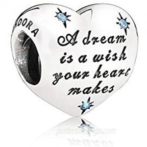 PANDORA Women's Disney Cinderella Heart Silver Charm - 791593CFL