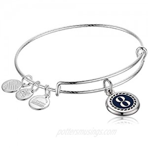 Alex and Ani Color Infusion Numerology Eight EWB  Shiny Silver  One Size (A20EBNUM8SS)