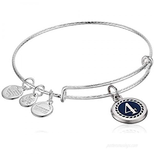 Alex and Ani Color Infusion Numerology Four EWB SS Shiny Silver One Size (A20EBNUM4SS)