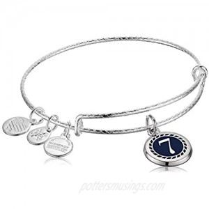 Alex and Ani Color Infusion Numerology Seven EWB  SS  Shiny Silver  One Size (A20EBNUM7SS)