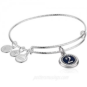 Alex and Ani Color Infusion Numerology Two EWB Shiny Silver One Size (A20EBNUM2SS)