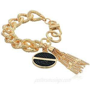 GUESS Women's Clip Closure Bracelet Black One Size