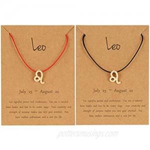 NUOSHING Simple 12 Constellations Bracelet Astrology Horoscope Zodiac Bracelet with Gold Message Card Gift for Women Men Boys Girls