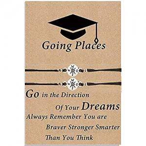 Pieces Graduation Compass Bracelet Class of 2021 Compass Graduation Presents for Classmates Best Sister 2 Pieces Set