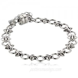 Spear and Circle Chain Magnetic Bracelet  RS  V20EBSP05RS