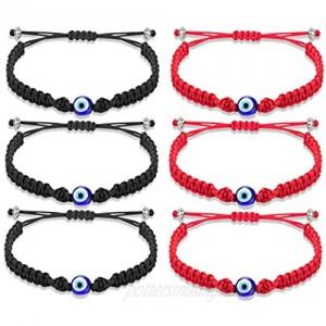 Tarsus Big Evil Eye Adjustable Bracelet Kabbalah Red String Amulet Nazar for Family Bestfriend Women Men Girls