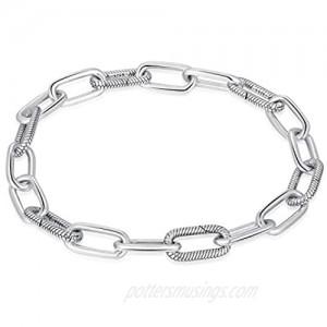 Angemiel 925 Sterling Silver Snake Chain Bracelet for European Bracelets Charms Bead
