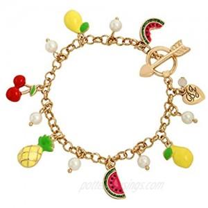 Betsey Johnson Fruit Charm Bracelet