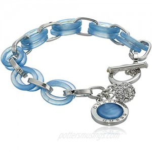 GUESS Women's Toggle Bracelet Blue One Size