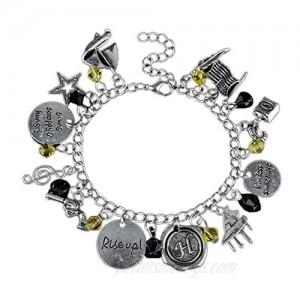 Hamilton Musical Bracelet Halloween Charm Bracelet Silver