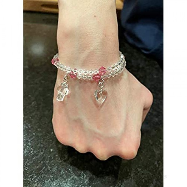 Rosary Bracelet Made with Swarovski Crystals – Elegant and Classy - Hand Made in The USA - Beautifully Presented in a Gift Box - One Size fits All