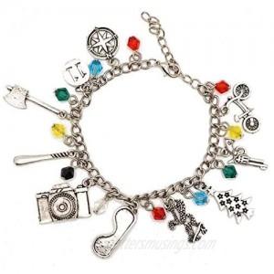 Stranger Things Bracelet Charm Light Jewelry Cosplay Bracelet Gift for Girls Teens Women Friends Stranger Things Bracelet in FREE JEWELRY VELVET POUCH