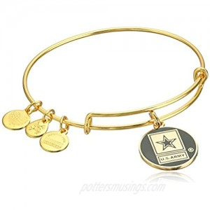 Alex and Ani Armed Forces US Army Expandable Wire Bangle Charm Bracelet