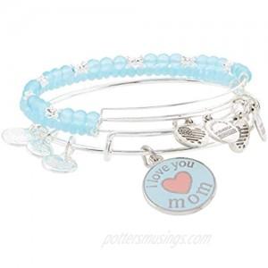 Alex and Ani I Love You Mom Bracelet Set of 3