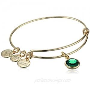 Alex and Ani May Emerald Bangle