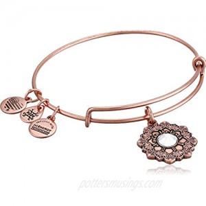 Alex and Ani Women's Mother of The Bride Bracelet  Rafaelian Antique Rose  Expandable