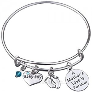 Infinity Collection Mom Bracelet  Mom Son Charm Bracelet Makes The Perfect New Mom Gift  or Baby Gift