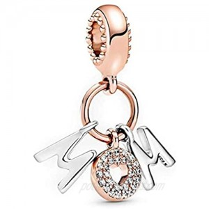 Annmors Mom Dangle Charm fits Pandora Charms Bracelets 925 Sterling Silver-Lucky Charm for Woman Pendant Bead Girl Jewelry Beads Gifts for Women Bracelet&Necklace