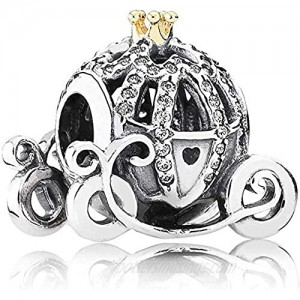 Annmors Pumpkin Charms fits Pandora Charms Bracelets  925 Sterling Silver-Lucky Charm for Woman Girl Jewelry Beads Gifts for Women Bracelet&Necklace