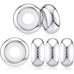DALARAN Stopper Beads for Bracelets 925 Sterling Silver Clip Spacer Charm Bracelet Stoppers
