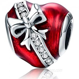 MallDou Jewelry 925 Sterling Silver Charm for Charms Bracelets Bowknot Family Tree Heart Charm Birthday Gifts